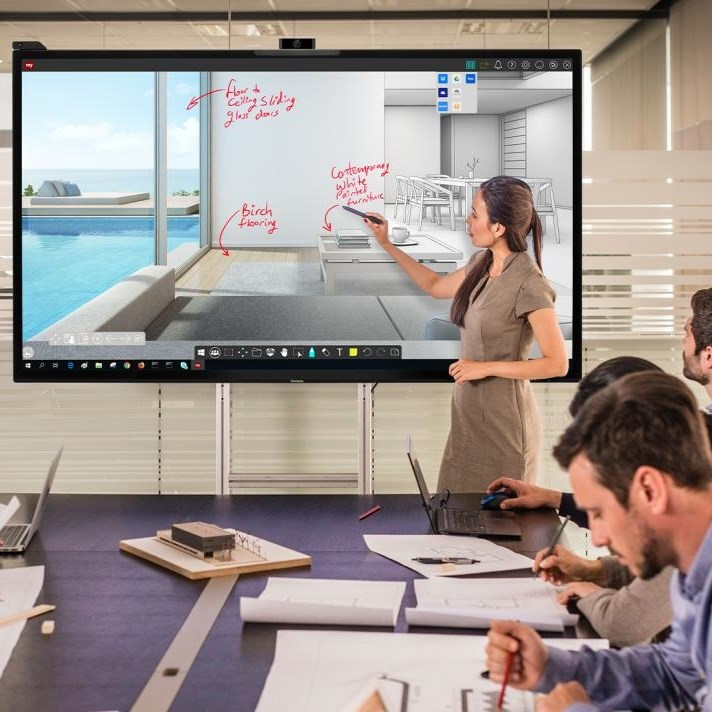 Interactive screen IFP uses   Ultra Vision